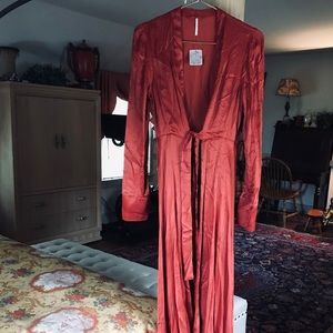 NWT Free people long robe S SMALL